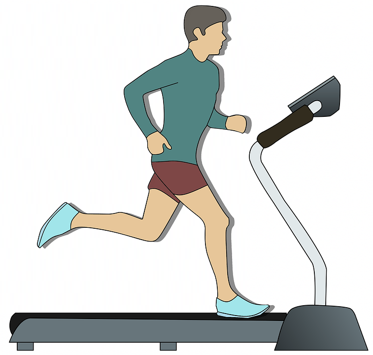 piriformis syndrome illustration of man running on treadmill