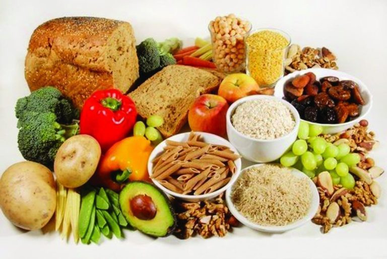 Image of various food groups and their nutrients for IBD.
