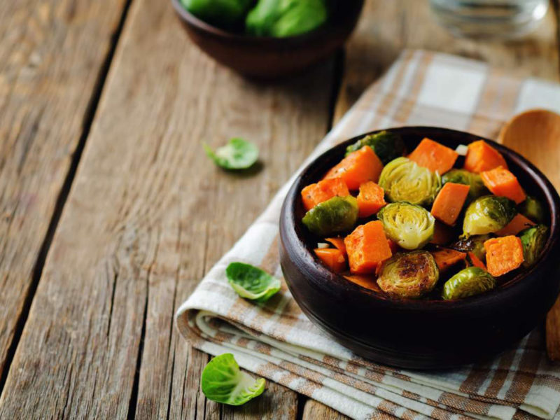 Chicken with Sweet Potatoes and Brussel Sprouts
